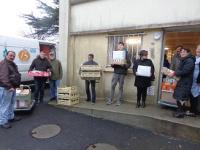 L'équipe d'approvisionnement au retour de la Banque alimentaire